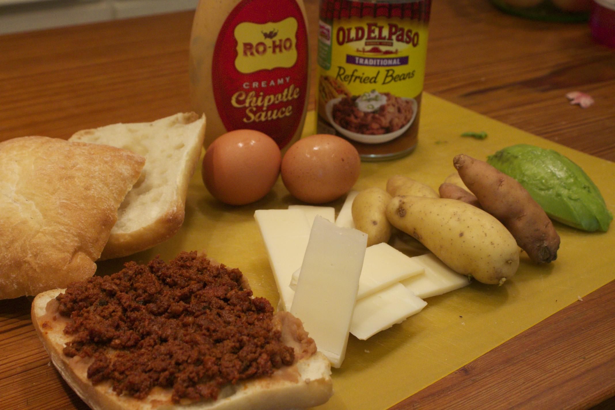 Mexican breakfast sandwich