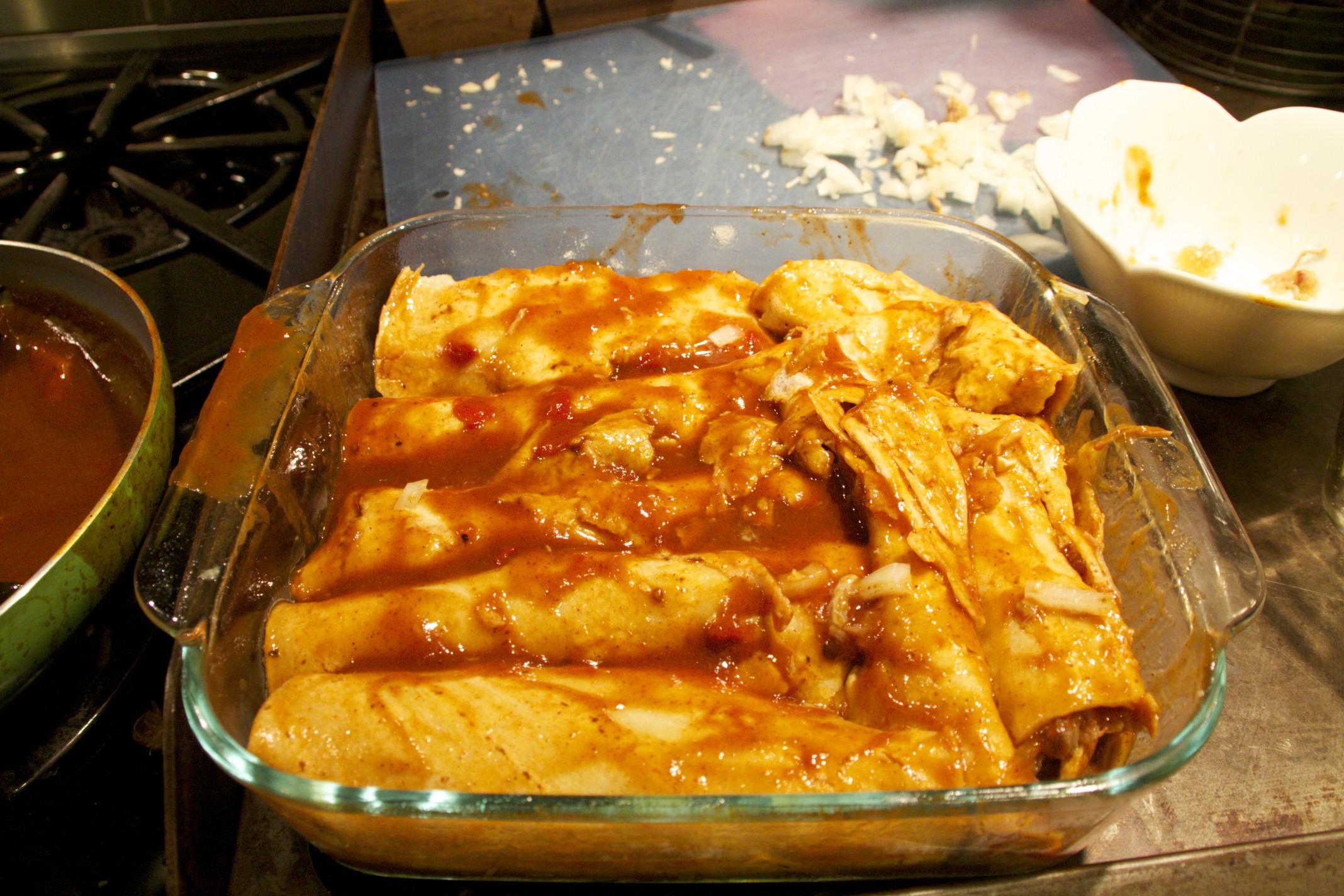 chipotle pulled pork enchiladas
