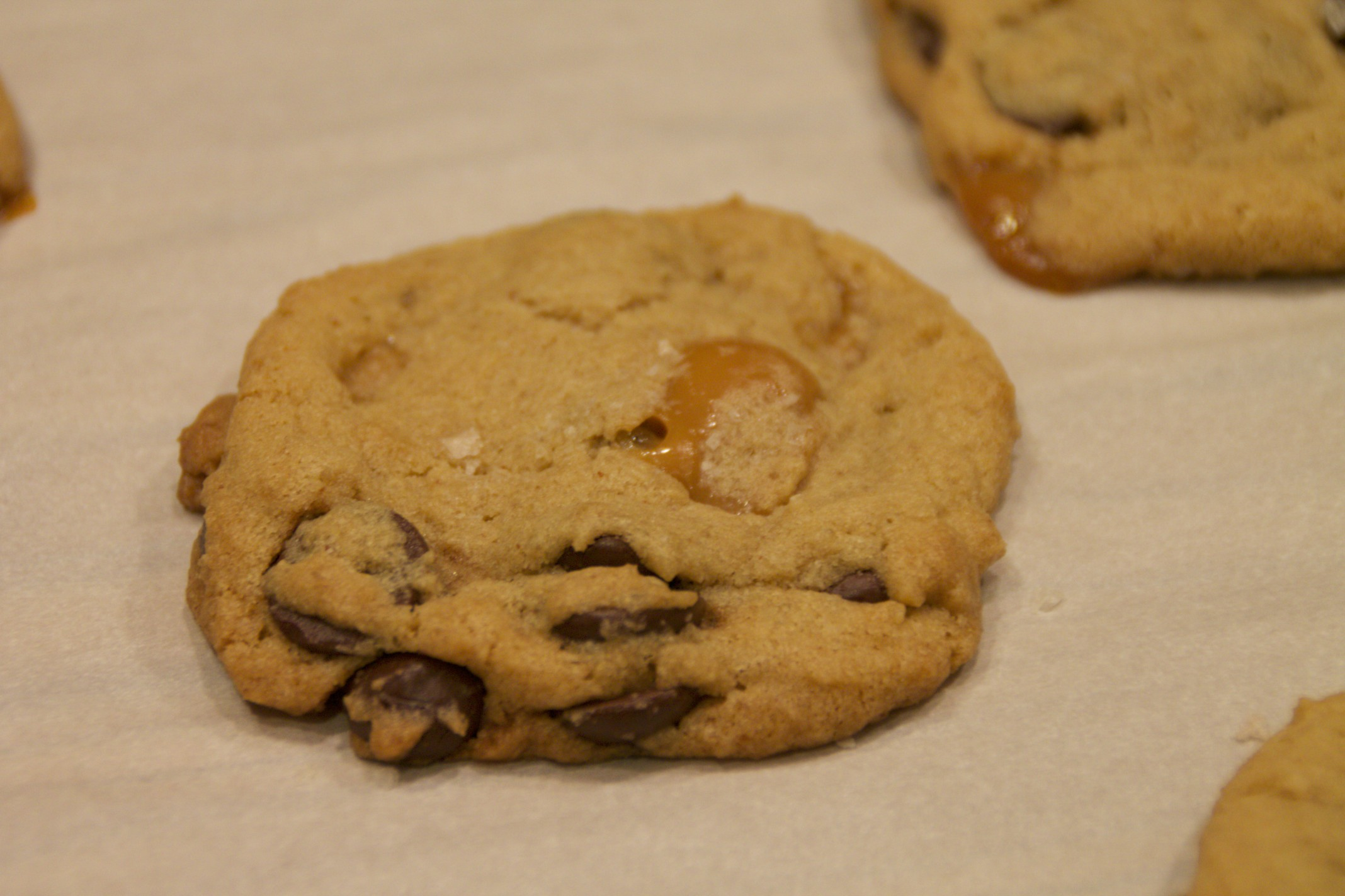 browned butter salted caramel chocolate chip cookies