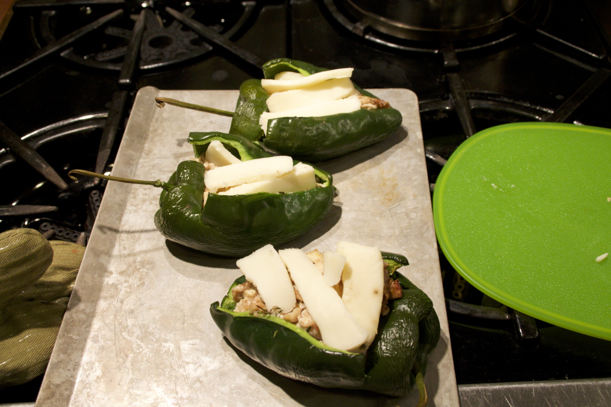 chicken salad stuffed poblano peppers