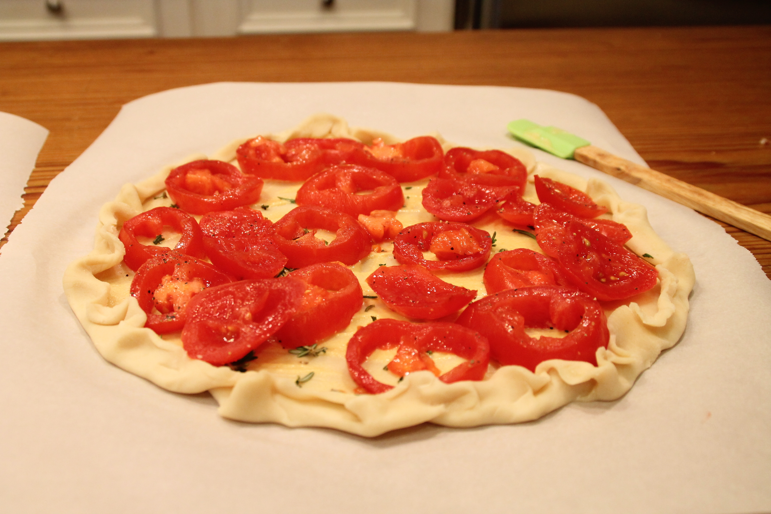 cheddar and tomato tart