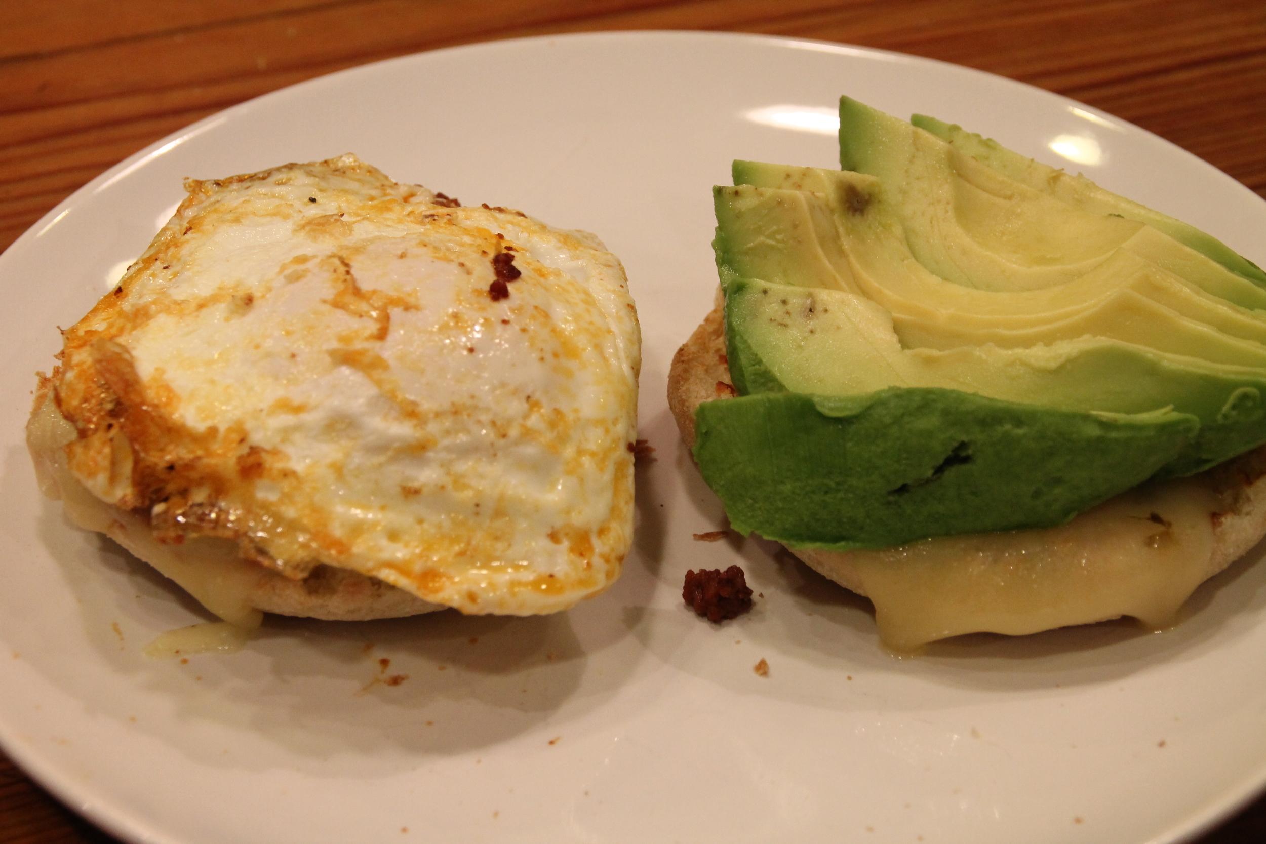 chorizo Mexican breakfast sandwich