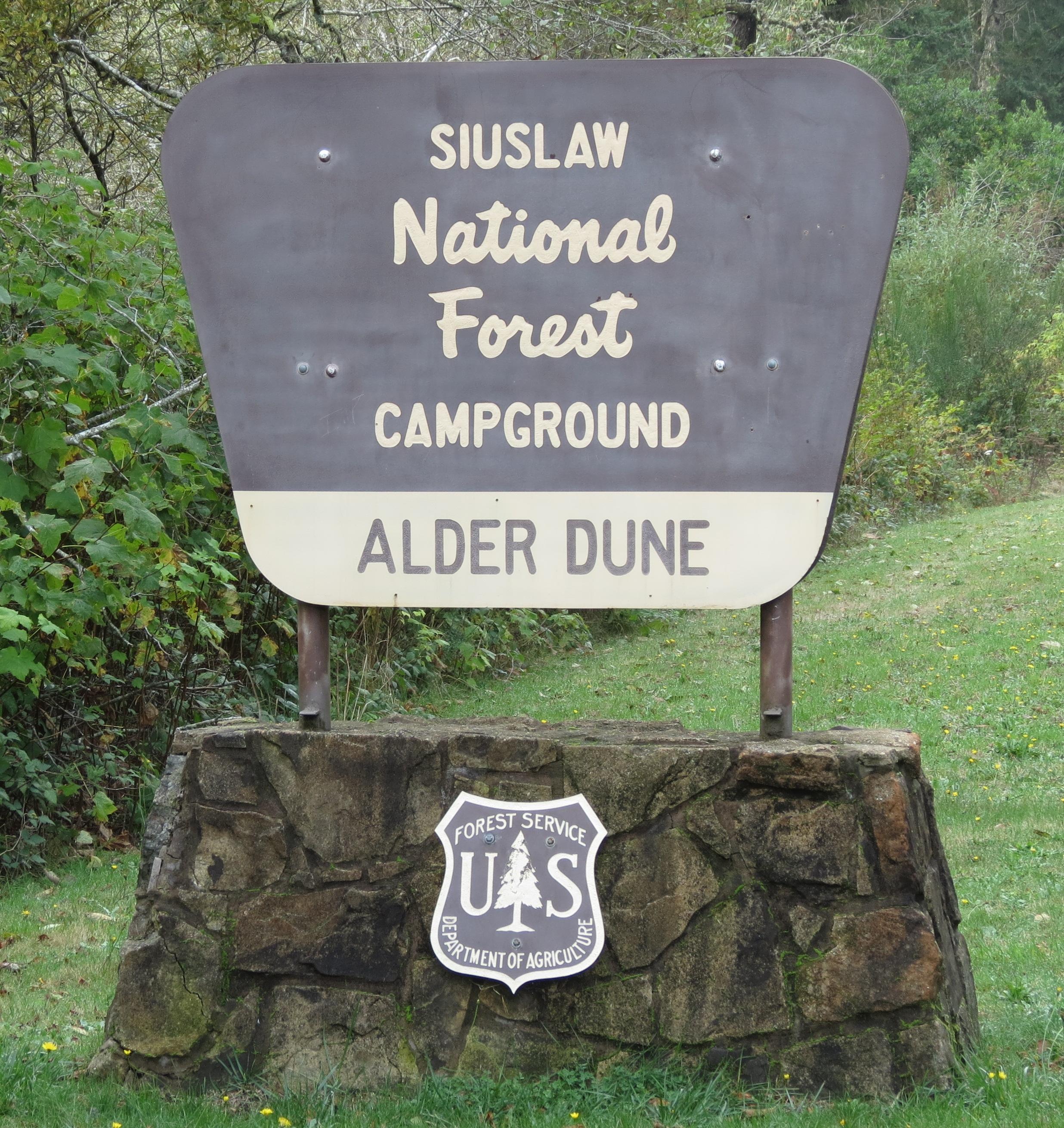 Alder Dune Campground Sign