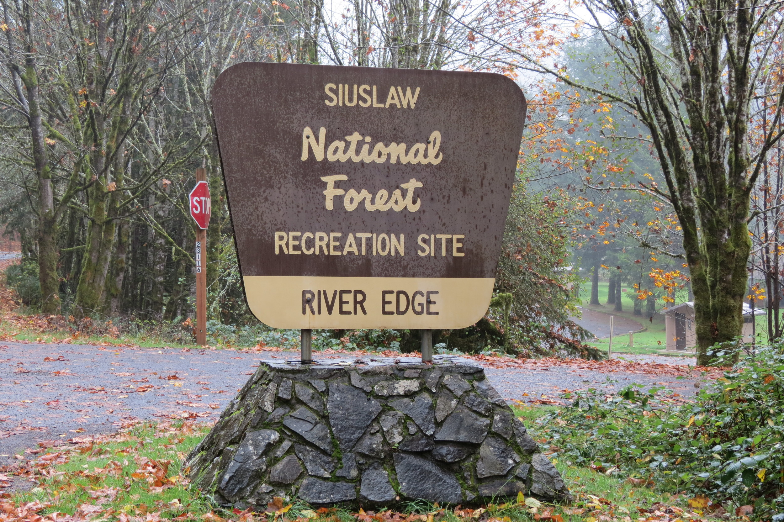 River Edge Campground Sign