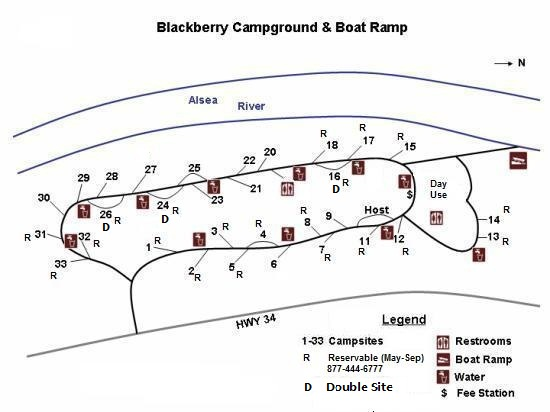 Blackberry Campgroun Map