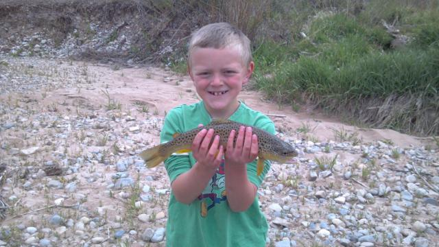 Fish caught by one of our beginning and promising Anglers at Diamond Fork Campground