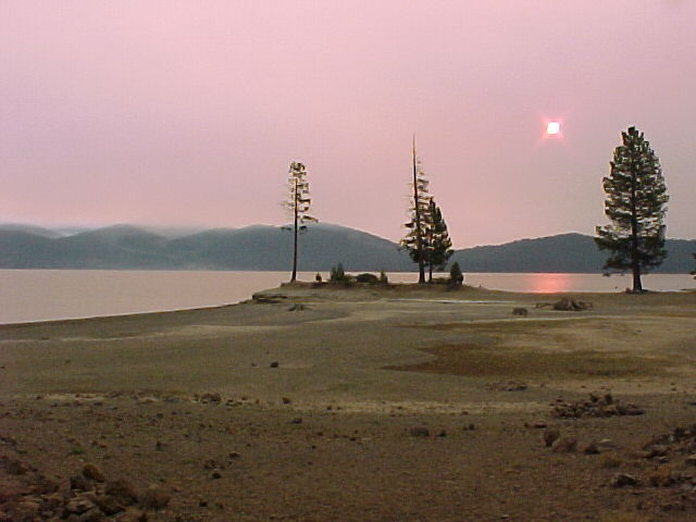 Moonlight Fire Sunrise - Rocky Point Campground