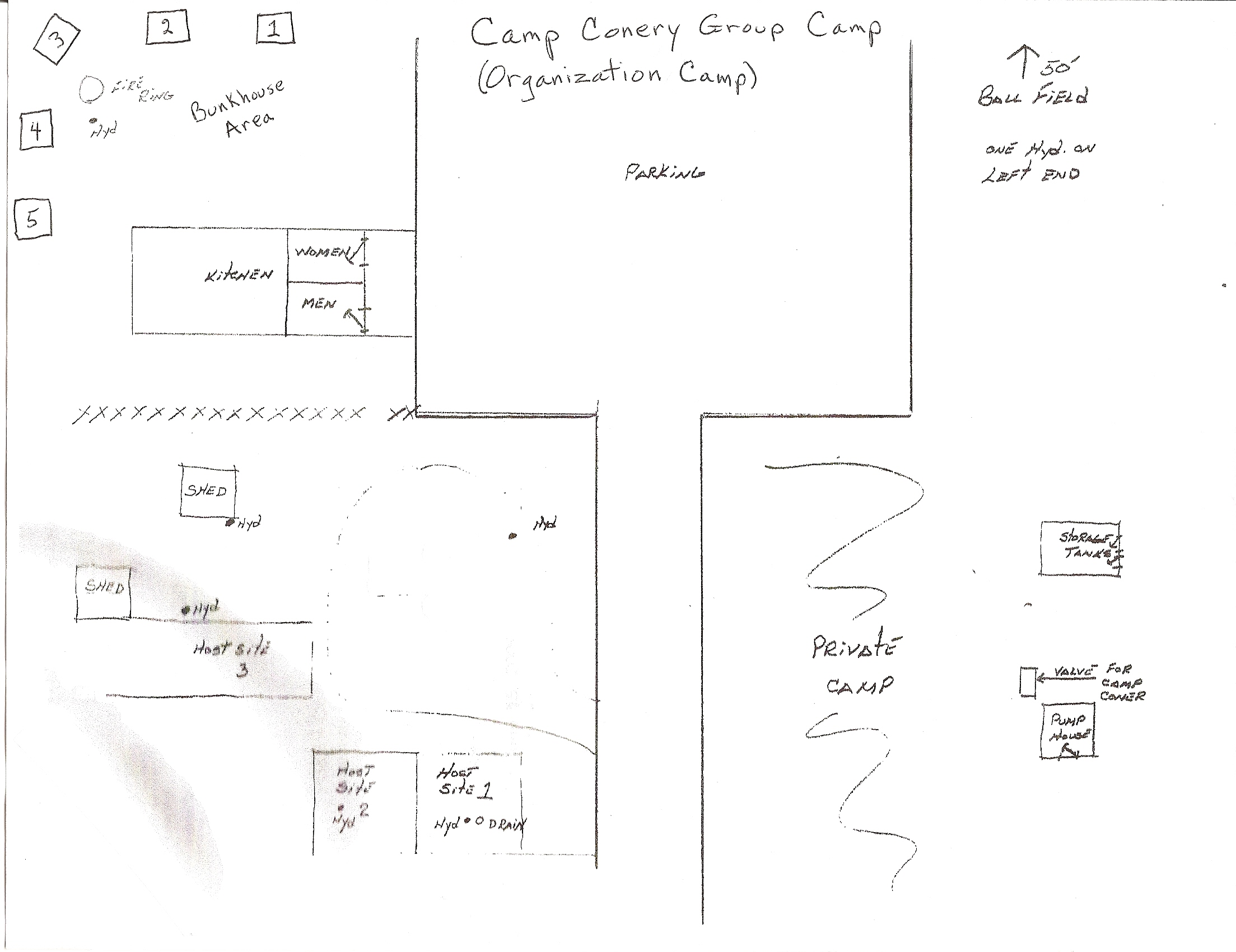 Camp Conery Map