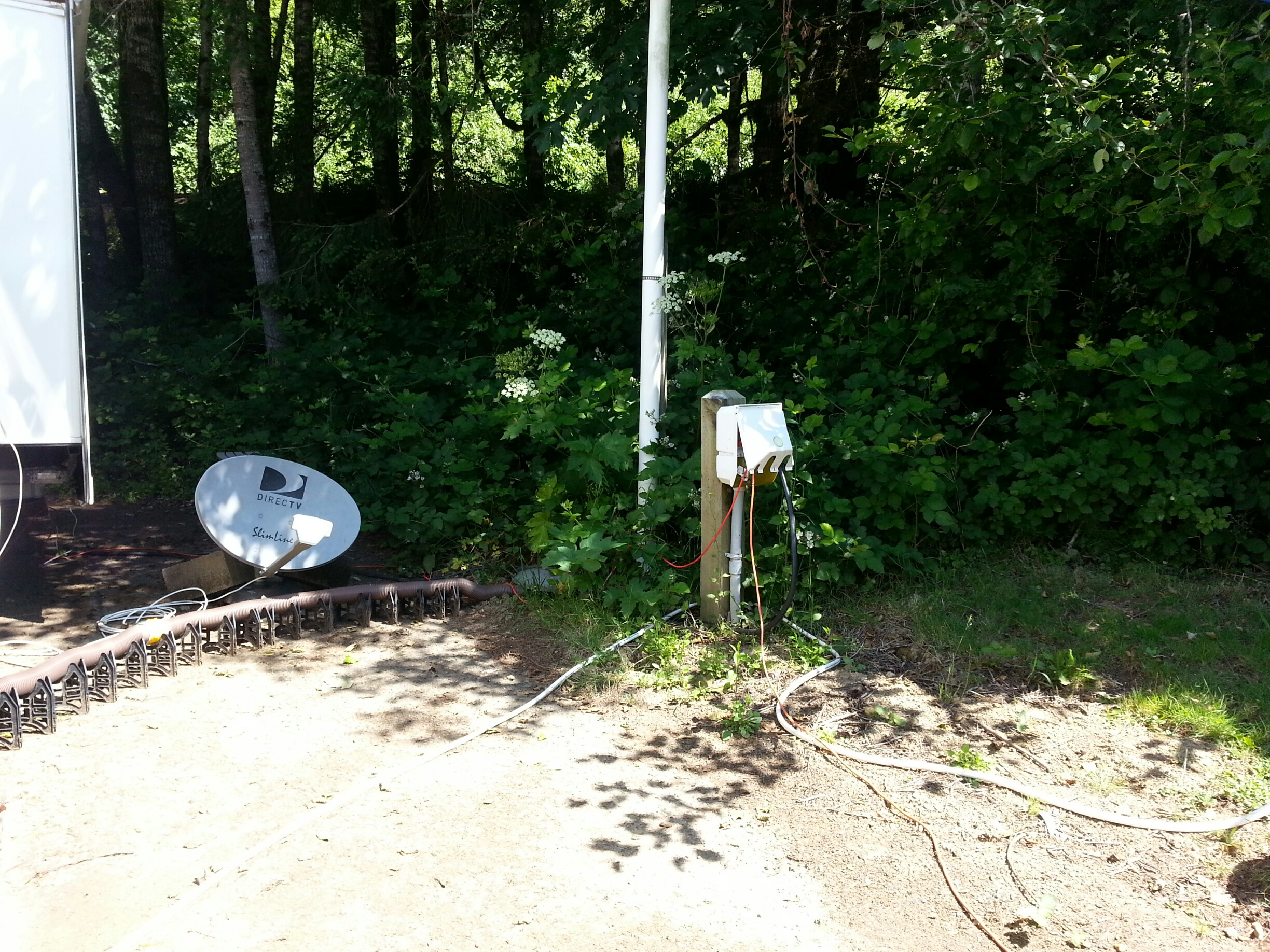 Hookups are close by - by River Edge Campground Hosts, Jim & Faunie Menke