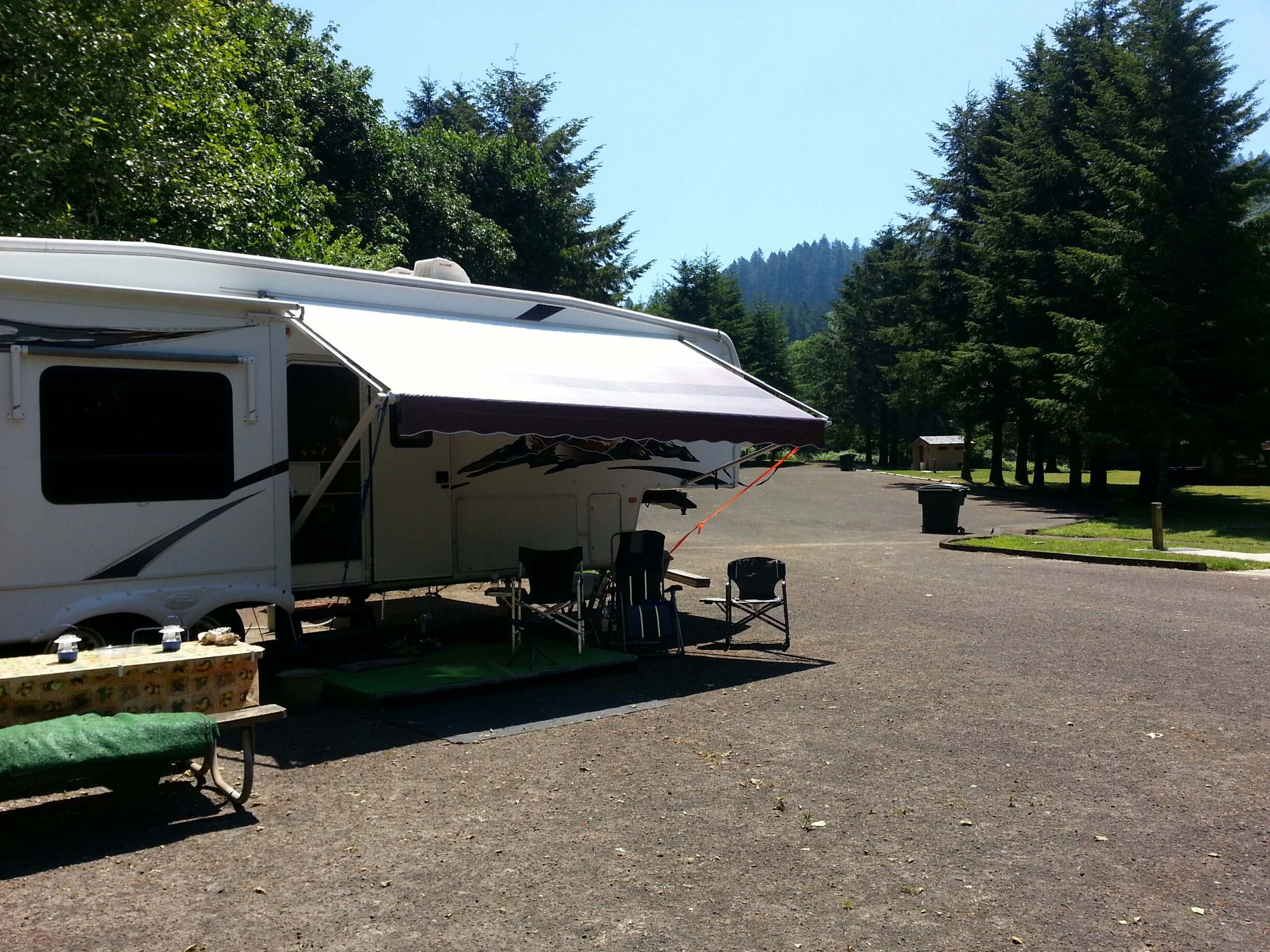 Also a view of the group area - by River Edge Campground Hosts, Jim & Faunie Menke