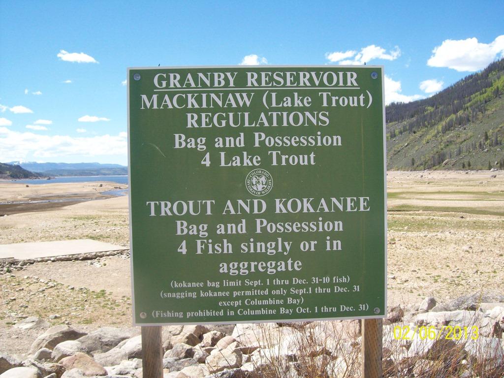 Fishing Regluations - Lake Granby