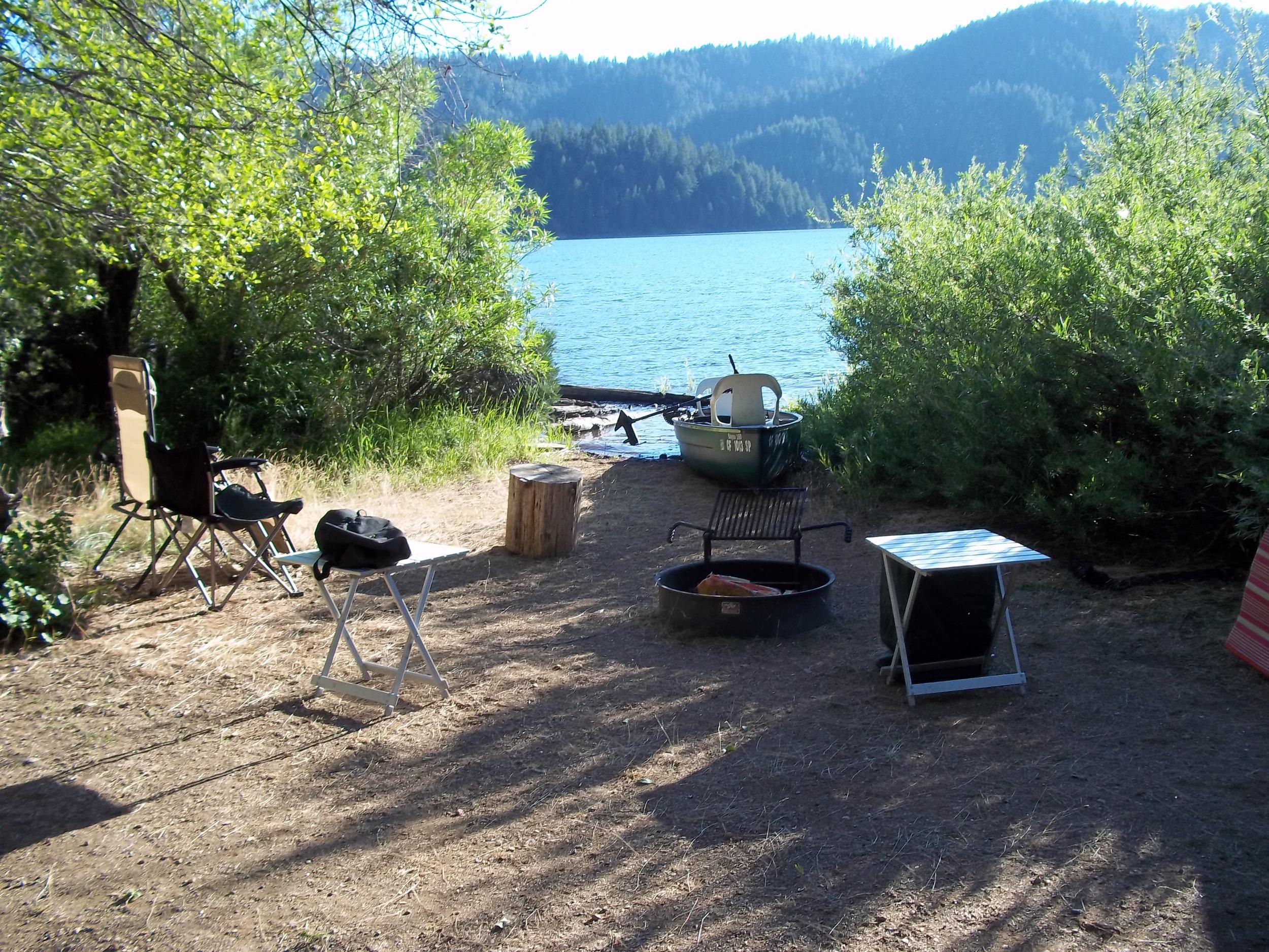 Lakefront campsites