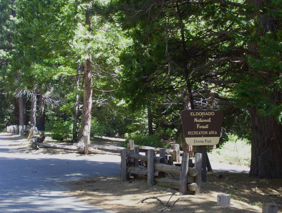 China Flat Campground Entrance