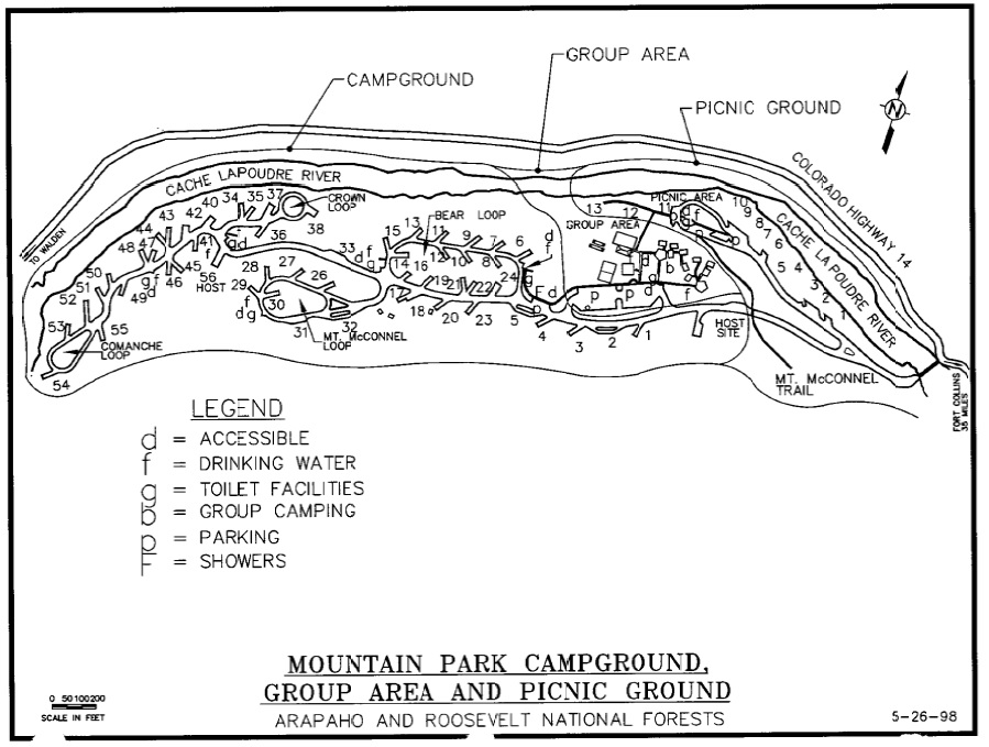 Mountain Park Campground Map