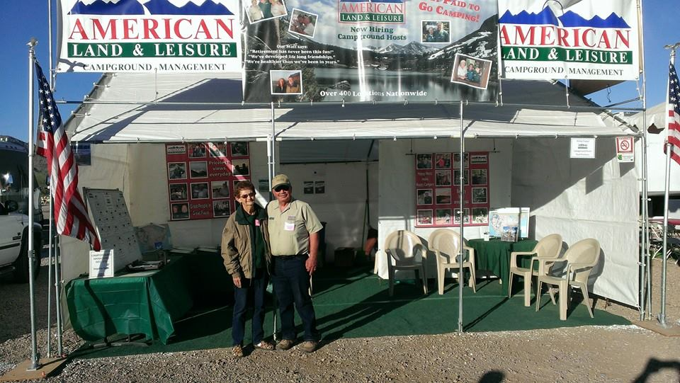 Jerry & Kay Willyard at the AL&L booth, Quartzite RV Show, 2014