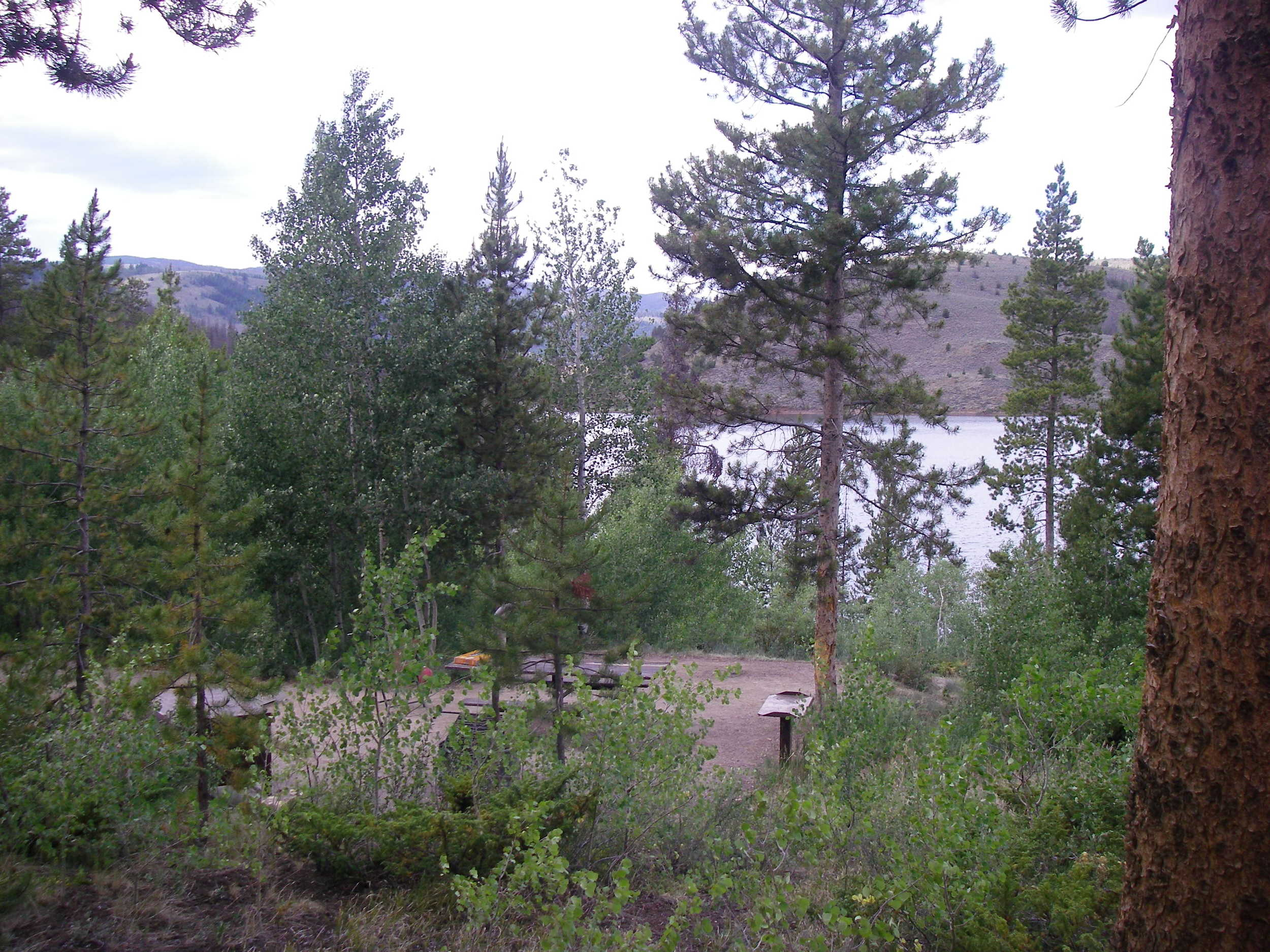 High elevation camping