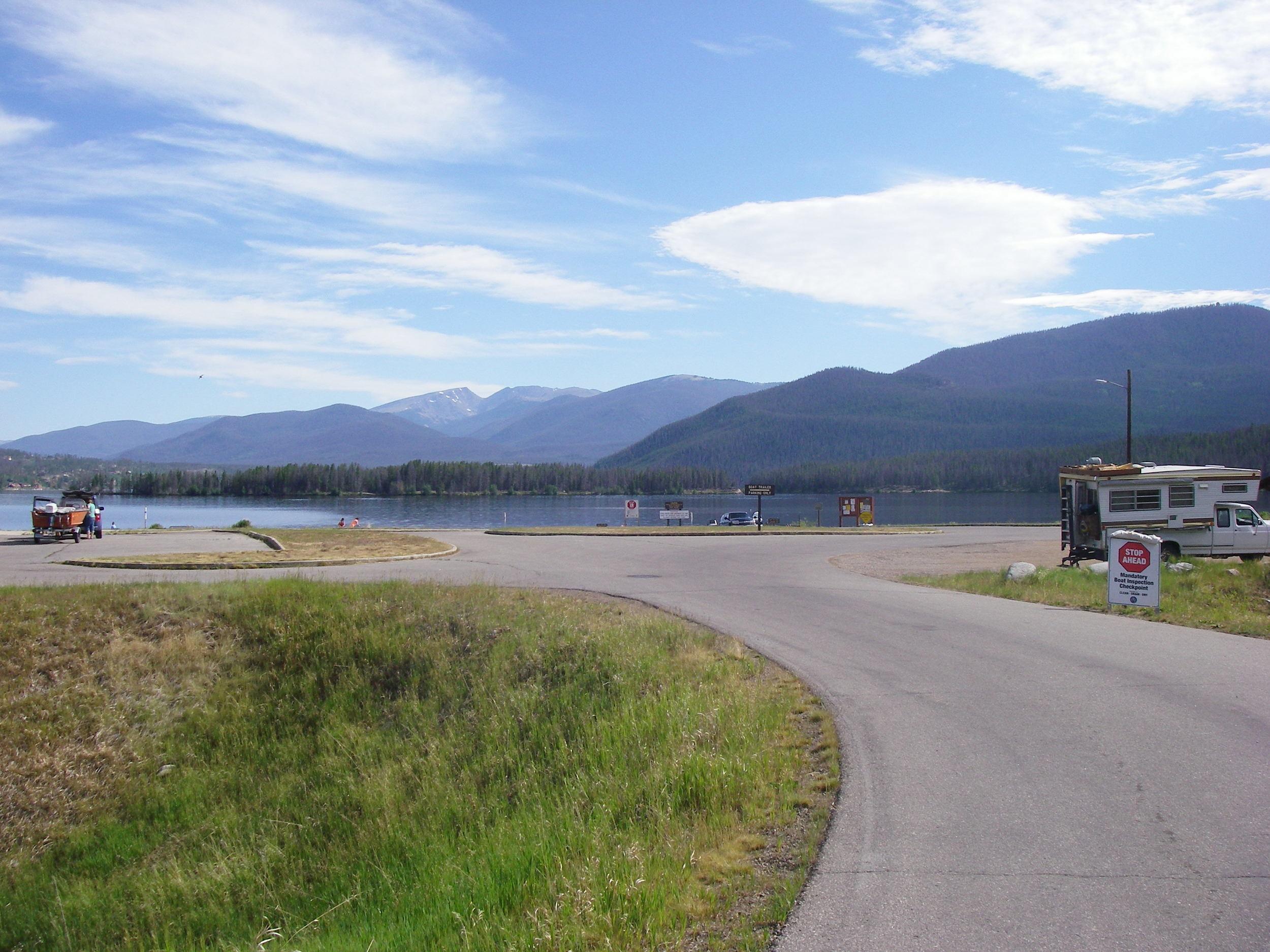 Boat launch on Shadow Mountain Reservoir
