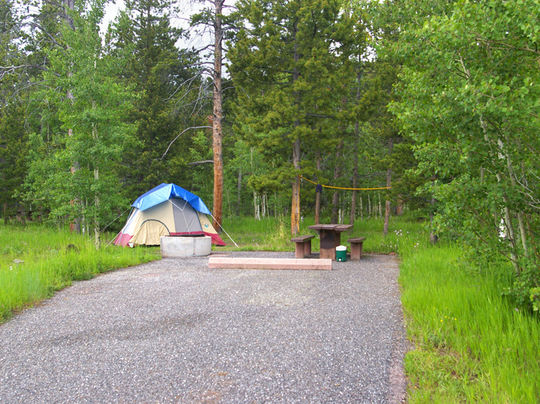 Tent and RV friendly campsites