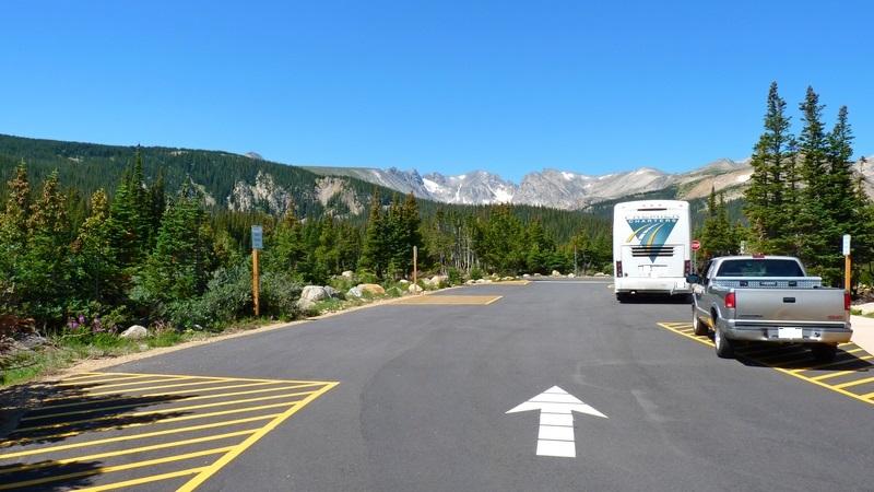 Oversized vehicle parking area