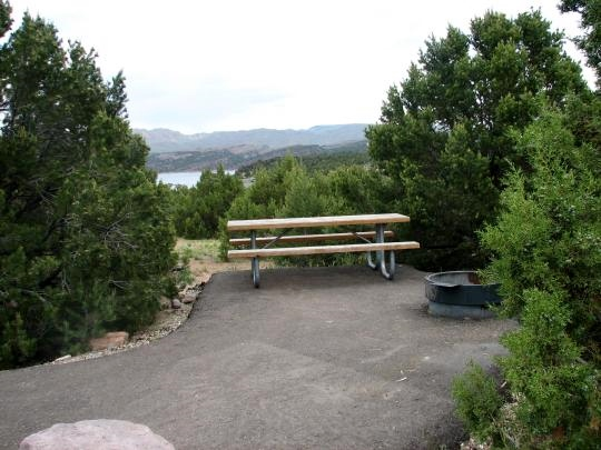 View of Flaming Gorge from Deer Run Campground - click on photo for gallery