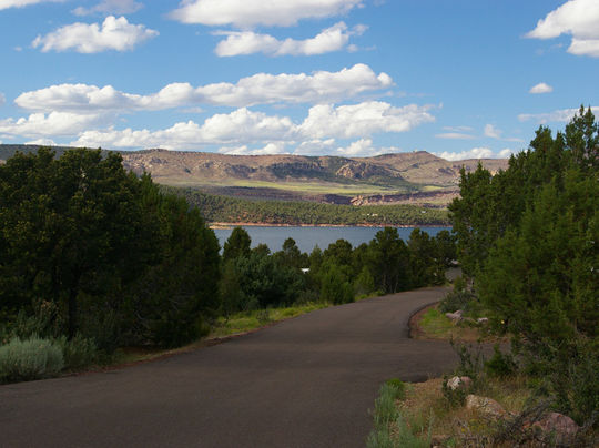 View of Flaming Gorge from Cedar Springs Campground - click on photo for gallery