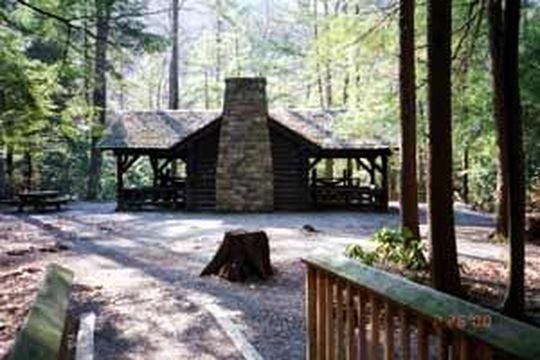 Small group picnic site with pavilion