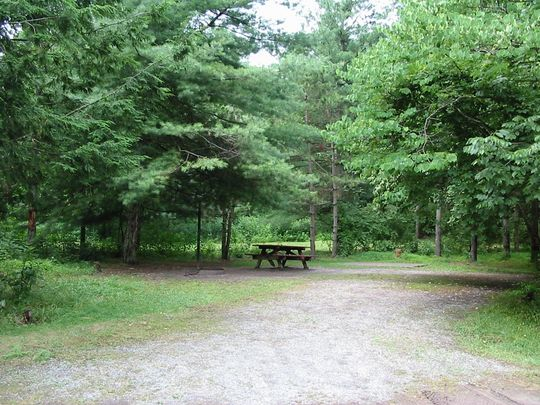 Typical campsite in Big Bend Campground, WV - Click on photo to view gallery