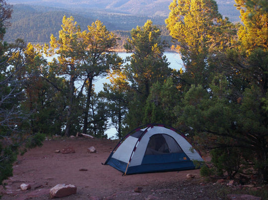 Mustang Ridge Campground is tent and RV friendly