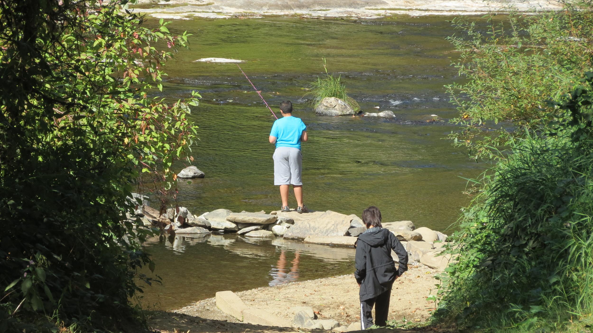 Alsea River, Blackberry Campground, Central Oregon Coast