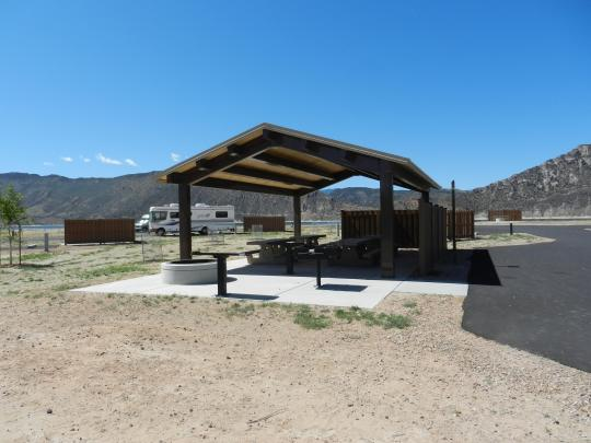 Pavilion in group camping sites
