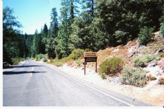 Welcome to Cherry Valley Campground east of Sonora, California