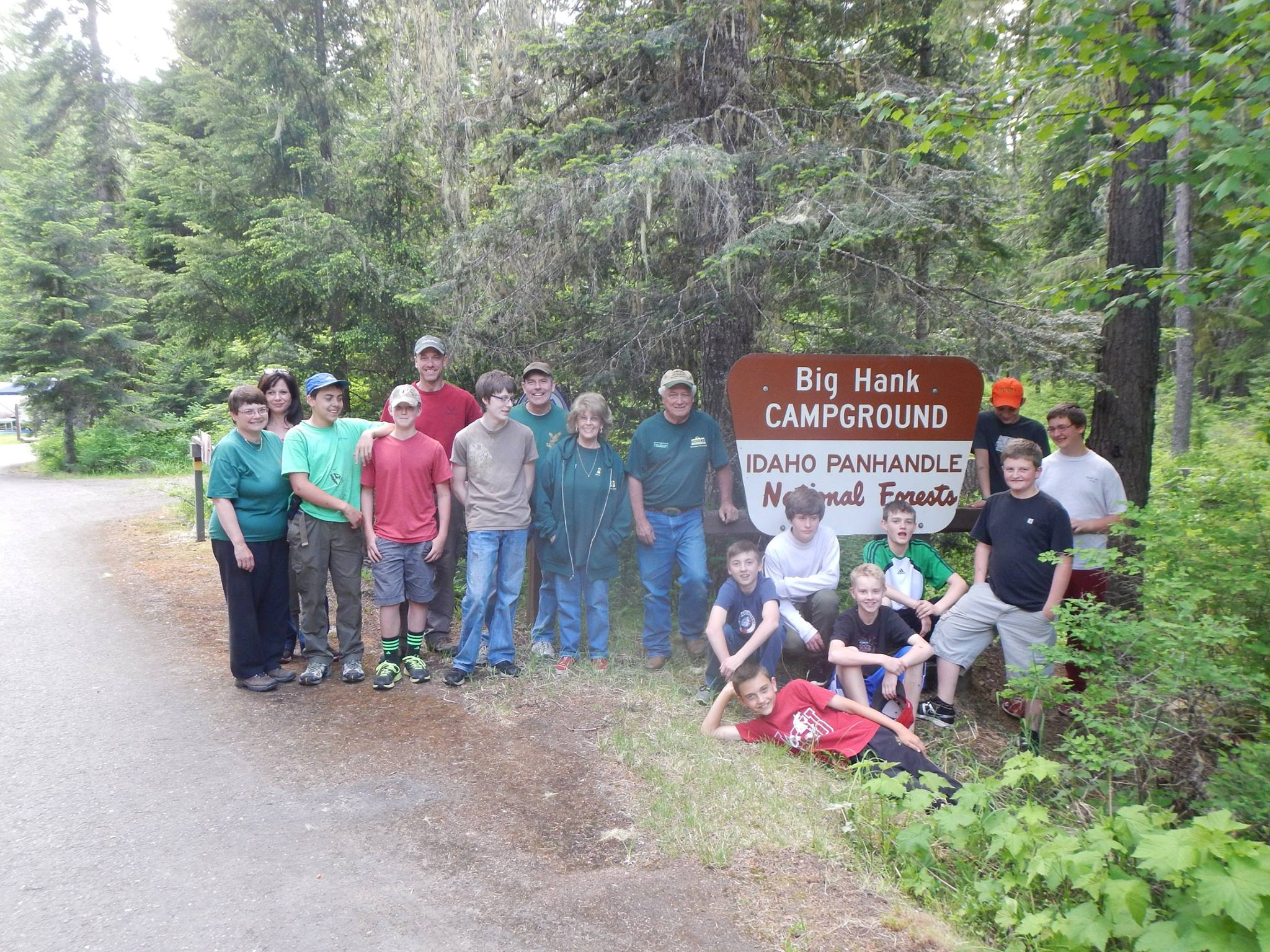 Spokane, Washington, Boy Scout Troop 313 - Big Hank Campground with hosts Al Hilyer and Darlene Muir