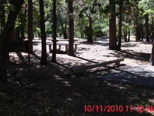 Separation between campsites