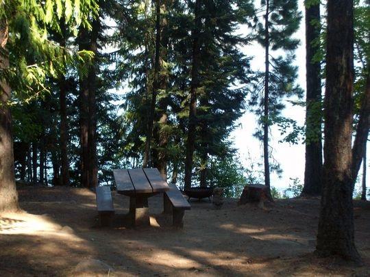 Osprey Campground, on Priest Lake, Idaho