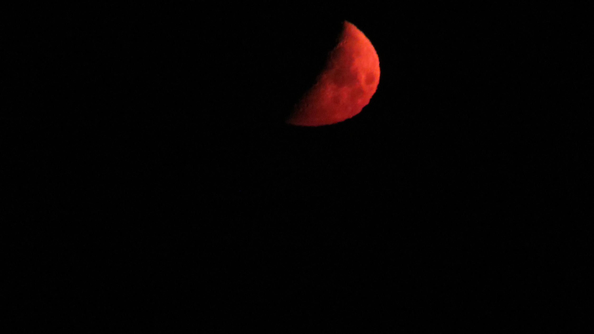 Blood Moon from Tillicum Beach Campground, Central Oregon Coast