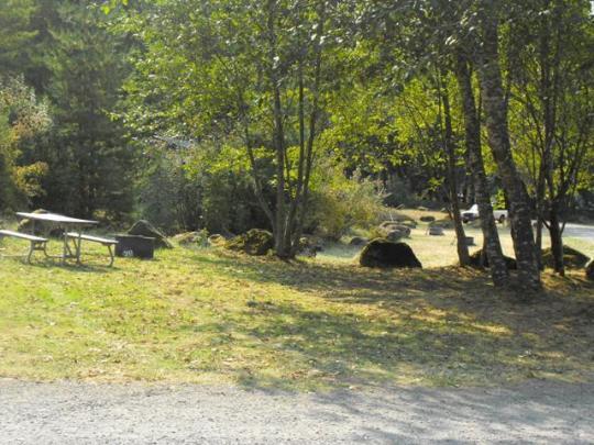 RV friendly campground - no hookups
