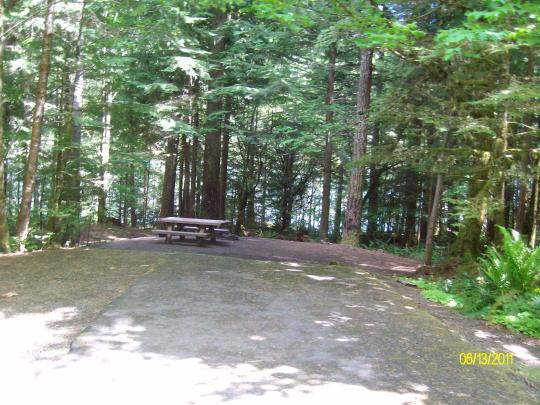 Lakefront camping