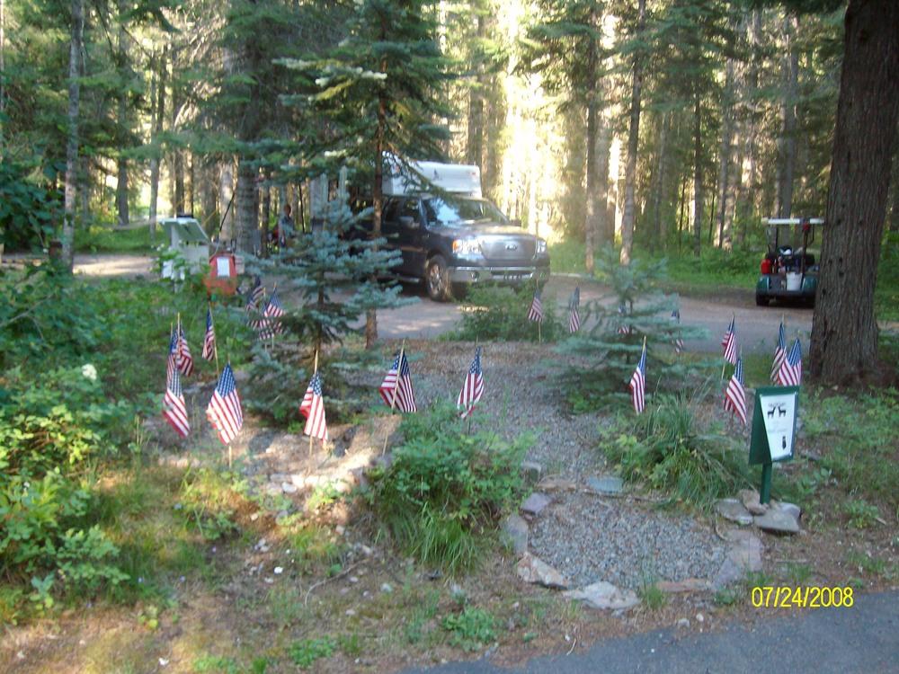 Memorial at Kit Price Campground, Idaho