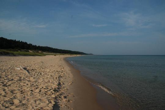 Beach at Lake Michigan Campground, MI