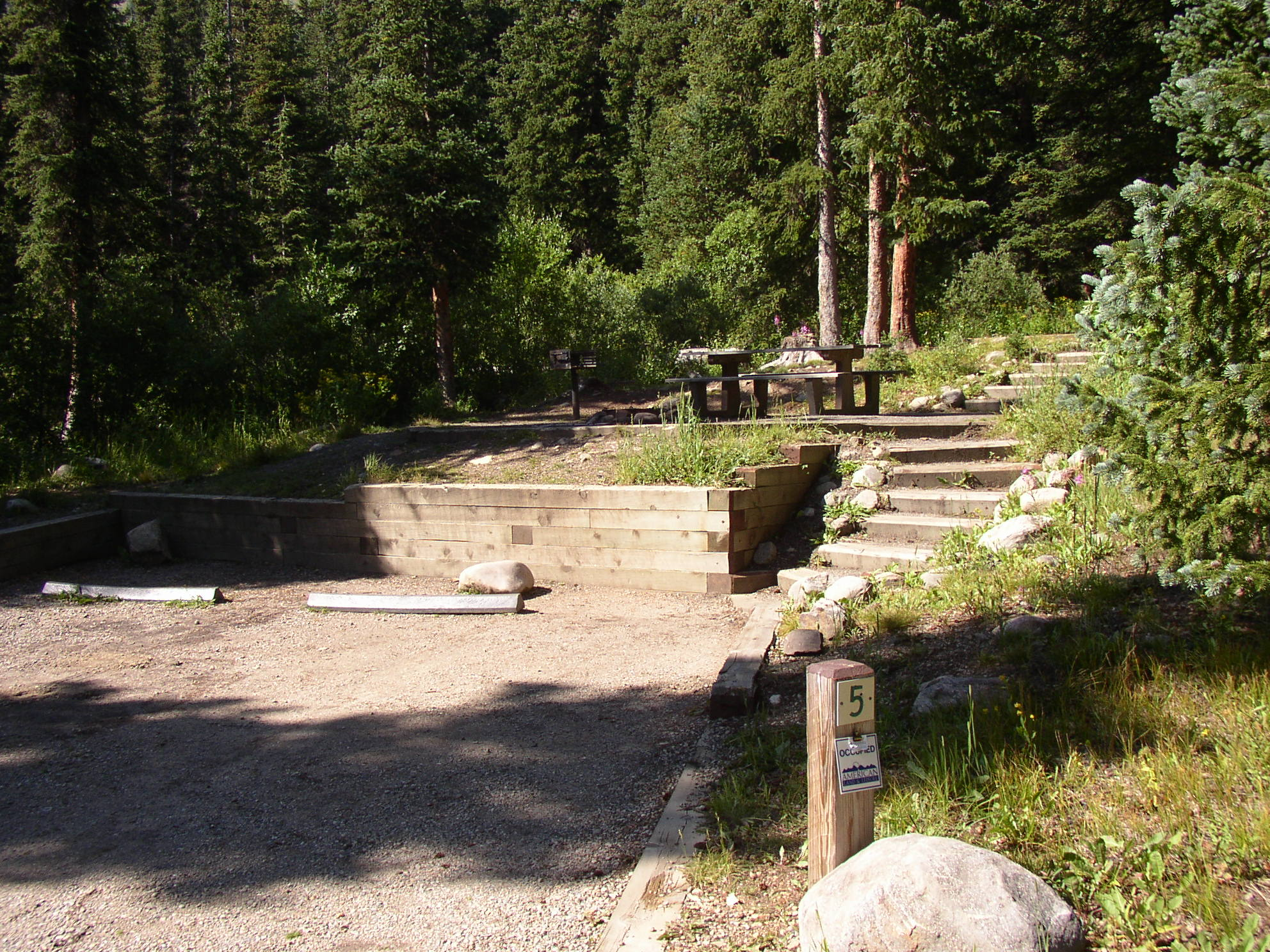 Stairs in some campsites