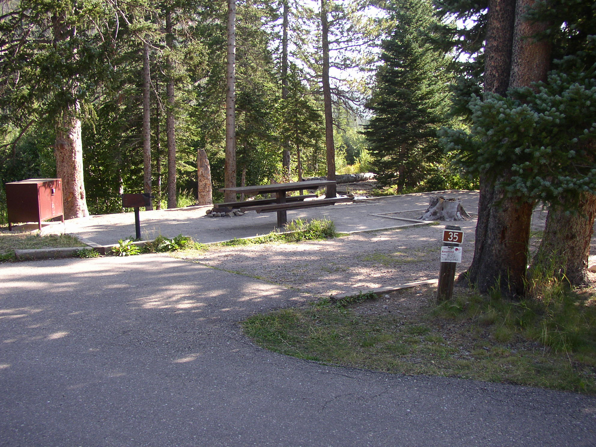 Some campsites are reservable