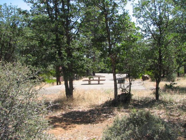 Paved campsites
