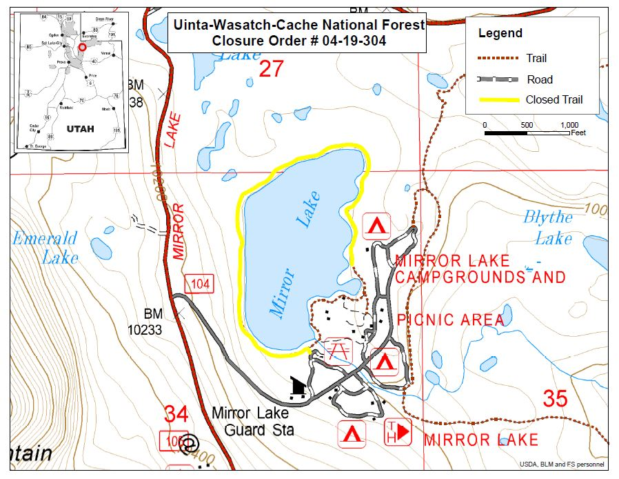 04-19-304 Mirror Lake Trail map.JPG