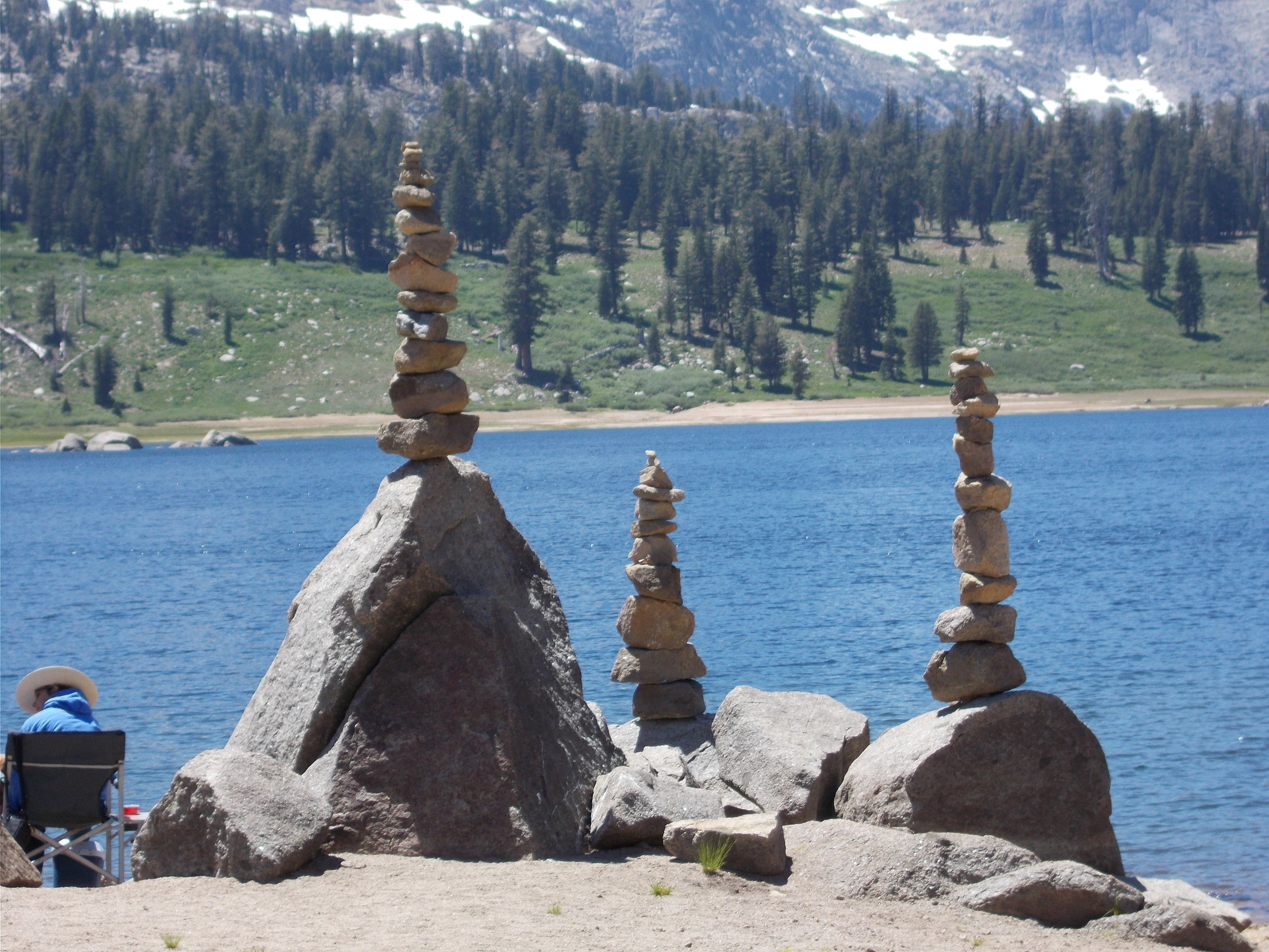Cairns on the lake