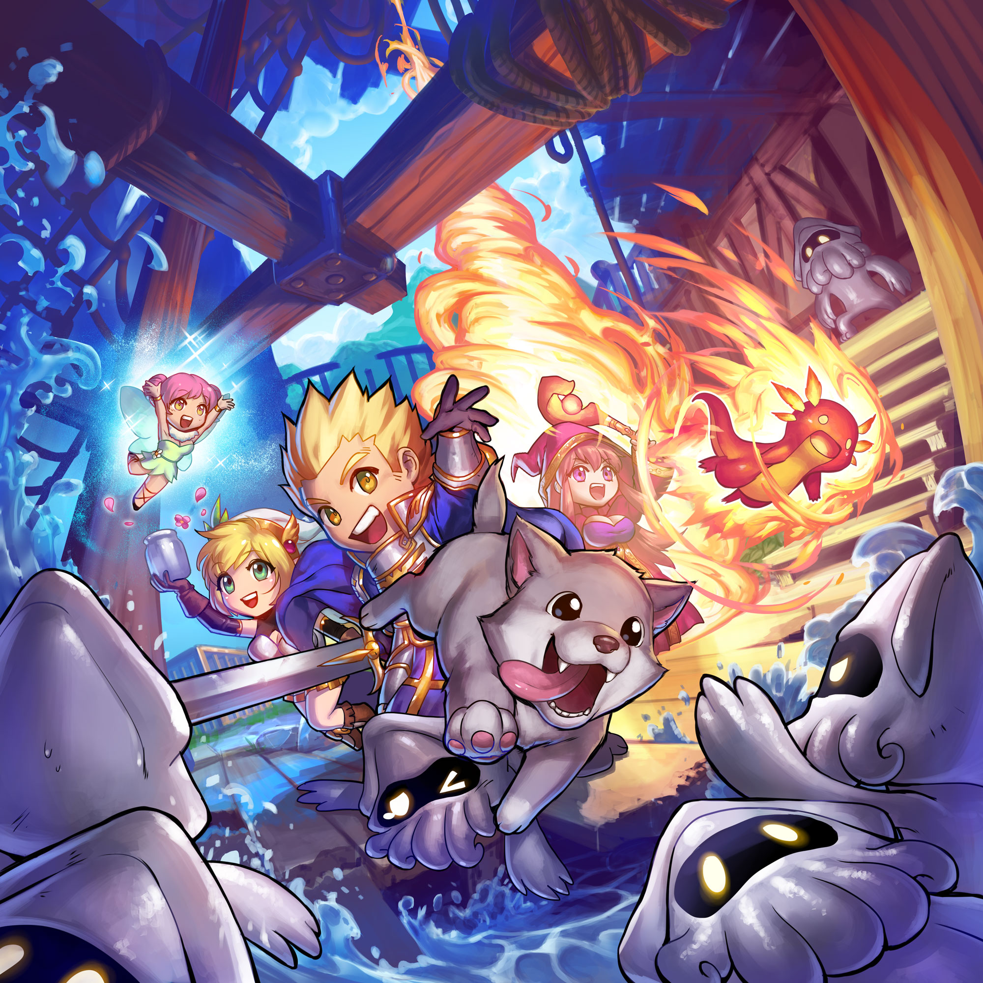 Super Dungeon Pet Parade Box Art