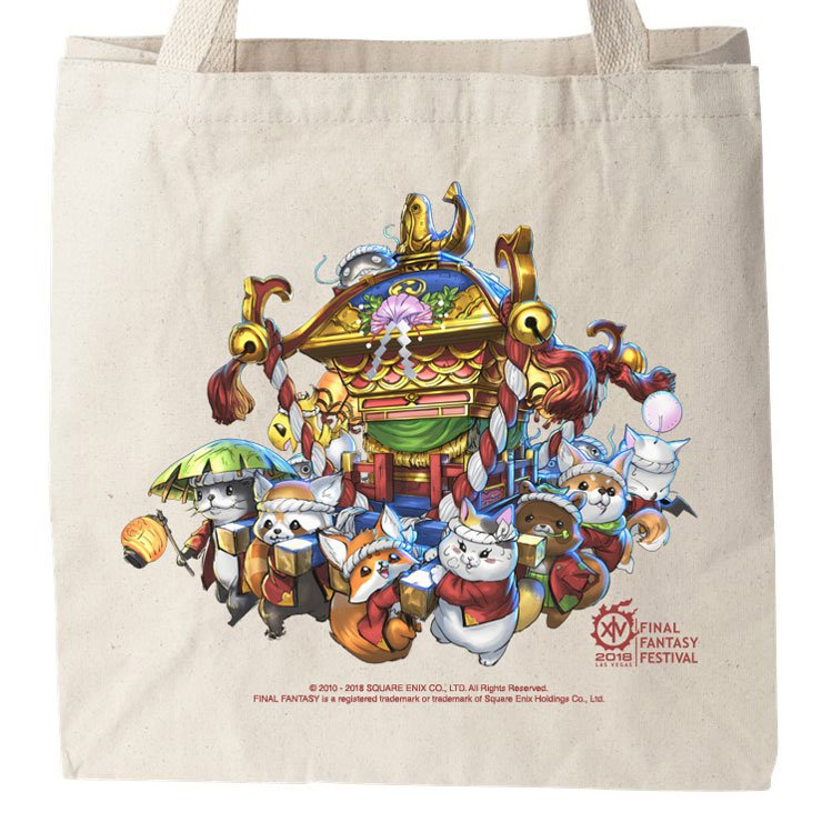 Final Fantasy 14 Fan Fest 2018 tote bag graphic