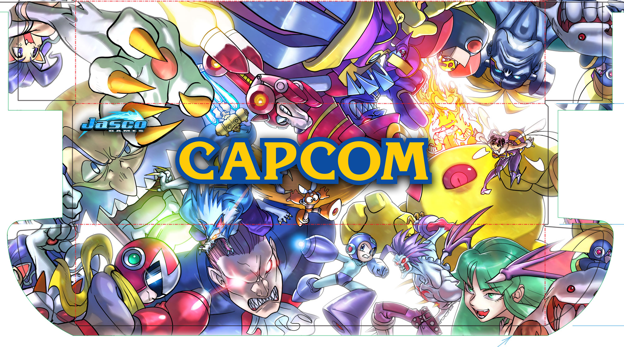 Megaman VS Darkstalkers UFS Casual Play Kit Box Wrap