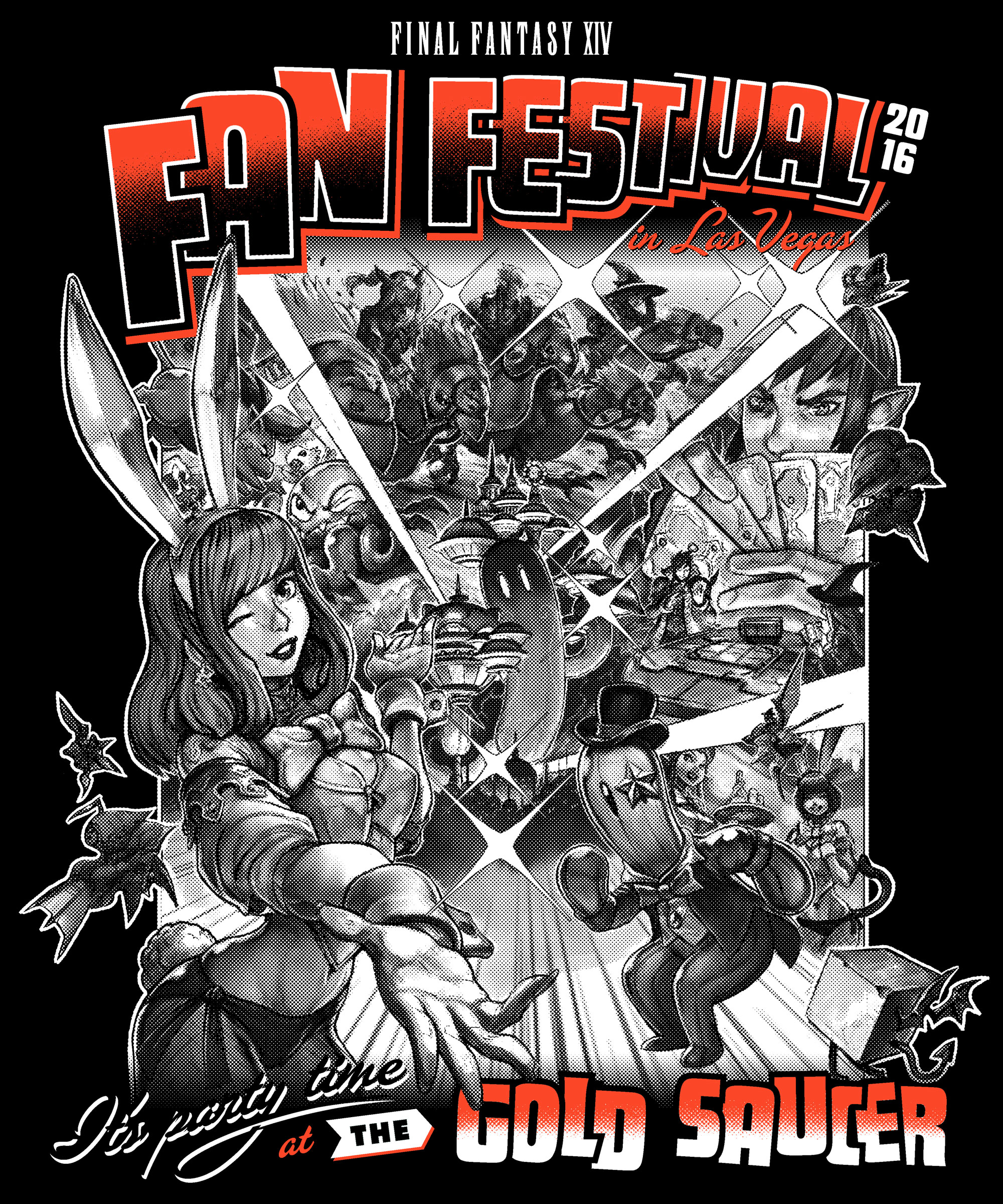 Final Fantasy Fan Fest 2016 Gold Saucer shirt