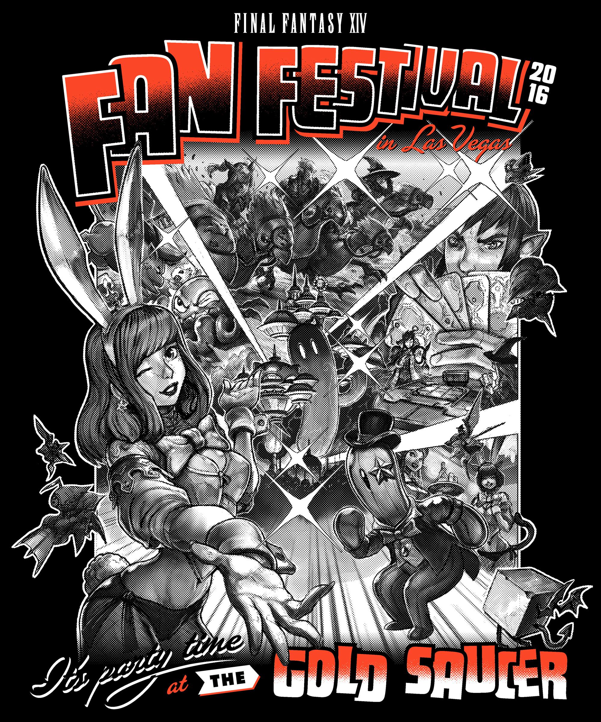 Copy of Final Fantasy Fan Fest 2016 Gold Saucer shirt