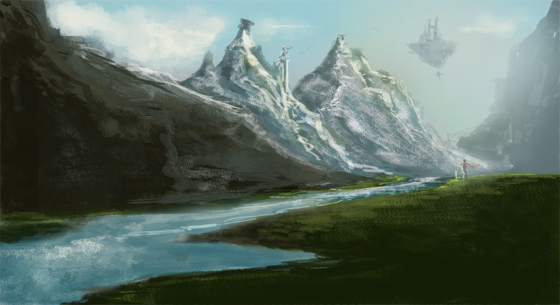 This is a speed paint i did took about an hour. Feel like im finally making some progress on the ol landscapes. Just gotta keep improving :)